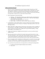 EC 202 Midterm 2 Questions for Review.docx
