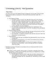 CriminologyUnit4-TextQuestions