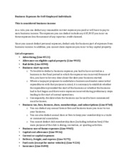 ACC2344 - Notes - Business Expenses for Self-Employed Individuals.pdf