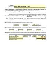 ACCT 106 Capital Budgeting Excel Project Part V (1)