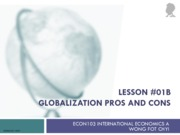 1 Lesson 01b Globalization Pros and Cons