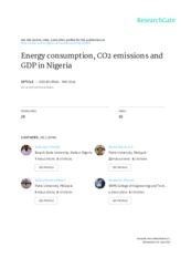 Chindo et al. - 2015 - Energy consumption, CO2 emissions and GDP in Niger