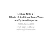 Lect7 - Poles and zeros, response