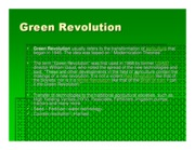 Microsoft PowerPoint - Green Revolution