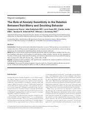 The Role of Anxiety Sensitivity in the Relation.pdf