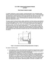 CEE 5930 Discriminant Analysis Example Handout-- Fall 2014