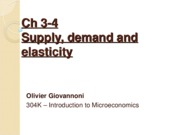 CHAP 3-4 - Supply, demand and elasticity_1