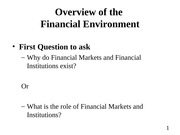 01. Overview of the Financial Environment