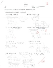 College Algebra Test 1
