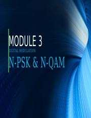 MODULE 3-DIGITAL MODULATION