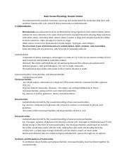 Basic Human Physiology Chapter 2 Notes