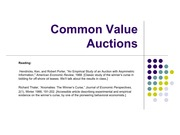 Lecture 8 Common Value Auctions
