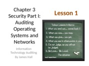 Chap03 Security I Auditing OS & Networks - Lesson 1 - no question