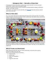 Ketogenic Diet — Benefits of Keto Diet.pdf