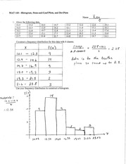 Histogram+Stem+and+Leaf+Dot+Plot+Solutions