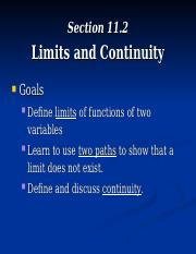 MTH224Section11_2_Limits&Continuity.ppt
