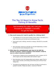 Fishing EI - Top 10 need to know facts January 2017.doc