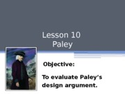 L10 Evaluation of Paley