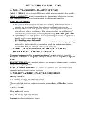 EthicsStudy Guide for the Final Exam-1.docx