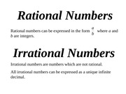 02 rational & irrational