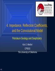 4. Impedance, Reflection Coefficients, and the Convolutional Model.pptx