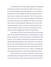 The Great Gastby Research Paper Outline  The Great Gatsby Research   Pages Gatsby Essay
