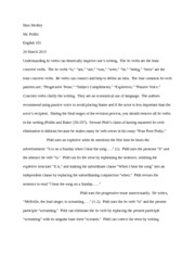English 101 Be Verb Essay (Pollitt)