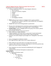 Exam II Notes