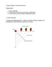 Lecture 6 Notes Travel-Time Curves