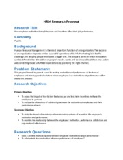 HRM PROPOSAL revised