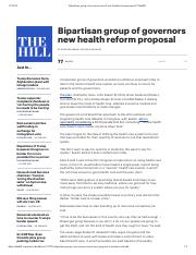 Bipartisan group of governors unveil new health reform proposal _ TheHill.pdf