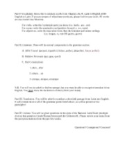 Honors Latin III- Test 4 Study Guide