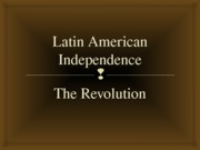 Project Latin American Independence