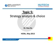 Section 5 - Strategy analysis & choice - May 2013  -stud