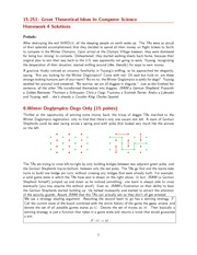 Assignment 4 Solution on Great Theoretical Ideas in Computer Science