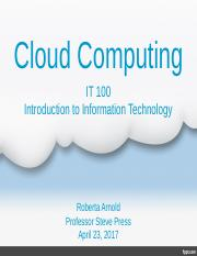 Cloud Computing Presentation Roberta Arnold.ppt