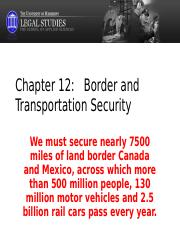Chapter 12 BORDER AND TRANSPORTATION SECURITY.ppt