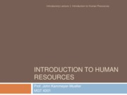 I.1-Introduction to HR