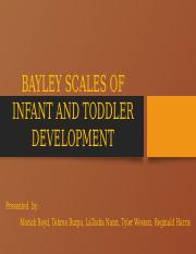 BAYLEY SCALES OF INFANT AND TODDLER DEVELOPMENT.pptx