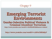 Chapter 9 Emerging Terrorist Environments 3-20-13