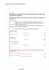 ECON 6500 Two-Part Tariff Practice Problem Solutions