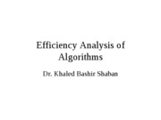 Lecture 2 - Efficiency Analysis of Algorithms