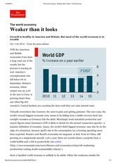 The world economy_ Weaker than it looks _ The Economist