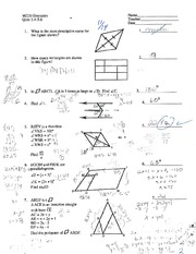 Geometry 218 - Quiz 5.4-5.6 with Answers