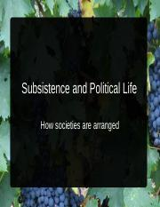 Subsistence and Political Life Blackboard Edition(2)