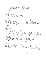 Chapter 6.3- Rules for Definite Integrals