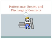 Performance, Breach, and Discharge