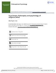 True fiction Philosophy and psychology of religious belief 17.10.2016 (1)