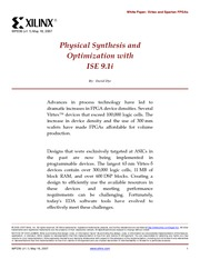 Physical Synthesis and optimisation with ise 9.1wp230