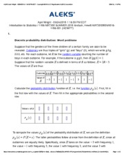 Discrete probability distribution- Word problems